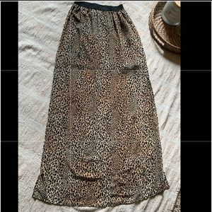 Cheetah print skirt